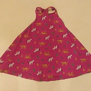 Tucker & Tate size 3 pink zoo animal tank dress